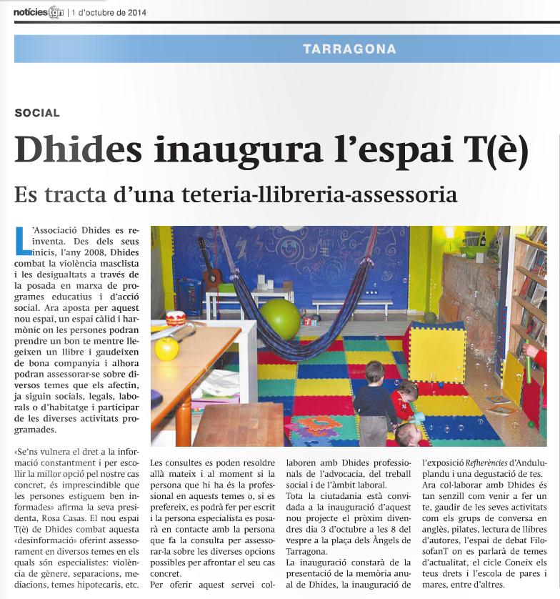 Reportatge de Dhides al Notícies Tarragona.